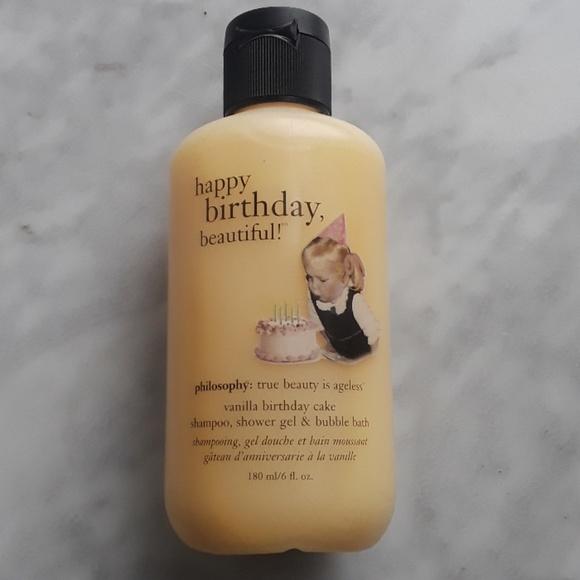 Awesome Philosophy Other Vanilla Birthday Cake Shower Gel 6 Oz Poshmark Birthday Cards Printable Giouspongecafe Filternl